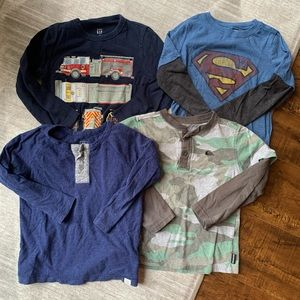 Boys long sleeved shirts. Size 4T